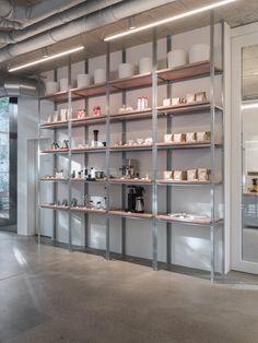 miró manufactura de café based in Zurich. Café, Roastery and Shop. This shelf portaits our products beautifully. Photographed and copyrights Yoichi Iwamoto. Zurich, Shelving, Divider, Shelf, Room, Furniture, Home Decor, Products, Shelves