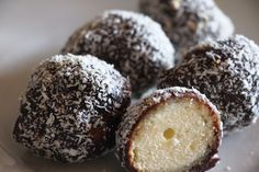 LAMINGTON BALLS - These tasty fritters made without yeast will be equally fresh the next day.