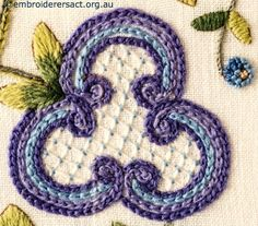 Jacobean Crewel Patterns   Now for those of you who like to see the stitching close up – here ...