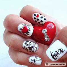 Lacquered Lawyer: Love is Black and White @lacqueredlawyer #nailart
