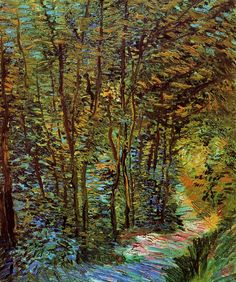 - Vincent van Gogh, Path in the Woods. Paris, 1887