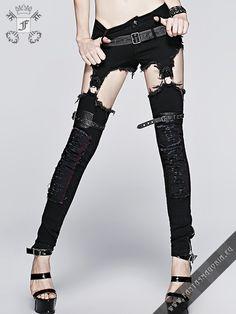 €72.50  Furia shorts-pants by punk rave | Fantasmagoria.eu - Gothic Fashion…