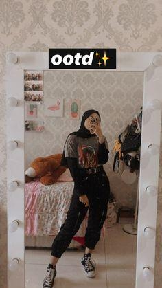 Street Hijab Fashion, Modern Hijab Fashion, Tomboy Fashion, Muslim Fashion, Fashion Outfits, Abaya Fashion, Casual Hijab Outfit, Ootd Hijab, Girl Hijab