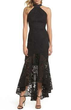 89d750014ac5 Jarlo Open-Back High/Low Lace Gown Women - Dresses - Evening & Formal Gowns  - Bloomingdale's