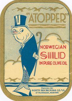 Vintage Norwegian Canning Label