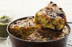 Potato and onion cake