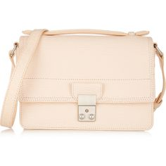 3.1 Phillip Lim The Pashli Mini Messenger textured-leather shoulder... ($975) ❤ liked on Polyvore featuring bags, messenger bags, 3.1 phillip lim, pink, mini cross body, pink crossbody, crossbody messenger bag, cross body and messenger crossbody