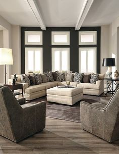 Sectional with recliners