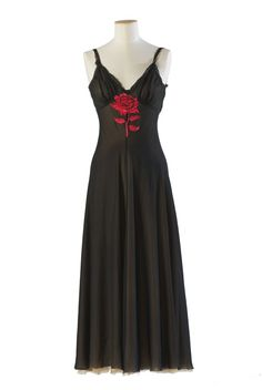 "Marilyn's black silk Negligee with sewn in rose detail worn in ""Niagara"", 1952."