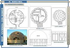 Sistema de Domos en al cosntrucciones   Naturaleza Book Report Projects, Diagram, Social, Garage, House, Dome House, World, Dome Homes, Cottage