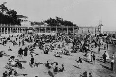 Crystal Beach Ontario Busy Beach 1910s 4x6 Reprint Of Old Photo