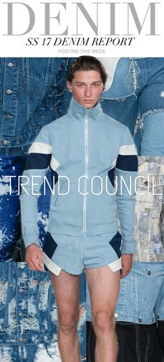 FASHION VIGNETTE: TRENDS // TREND COUNCIL - WOMENS AND MENS . DENIM REPORT…