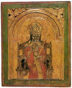 БОГ-ТРОИЦА НА ПРЕСТОЛЕ, Сербия, 1750 г.