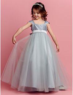 Ball+Gown+Floor-length+Flower+Girl+Dress+-+Taffeta/Tulle+–+USD+$+54.99