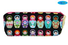 NEW Nesting Dolls Pencil Case  Russian Dolls Makeup Bag  by SewFlo, $19.99