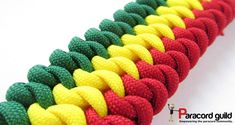 3 color mated snake knot paracord bracelet pattern.