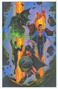 Justice League Vol. - Ŧꃅᙍ ꍏ尺Ϯ Ծ₣ ੮ℌΣ Շ⊕√乇Ɽ Travis Charest, Justice League Unlimited, Alien Planet, Different Art Styles, Comic Kunst, Dc Comics Art, Batman Comics, Dc Comic Books, American Comics