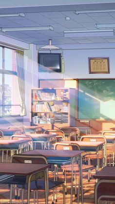 Excellent Class room decoration High school photography backgrounds Relaxing…More Anime Backgrounds Wallpapers, Anime Scenery Wallpaper, Aesthetic Pastel Wallpaper, Animes Wallpapers, Aesthetic Backgrounds, Cute Wallpapers, Aesthetic Wallpapers, Iphone Wallpapers, Naruto Wallpaper