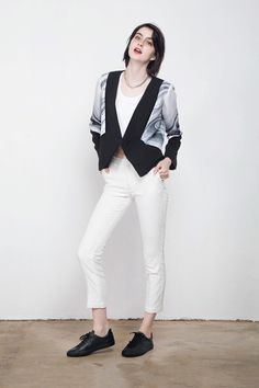Kay Li Viscose Blazer | GNOSSEM | Top Independent Designers | Free Shipping Worldwide