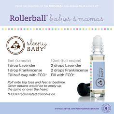 Sleepy Baby essential oil roller bottle blend