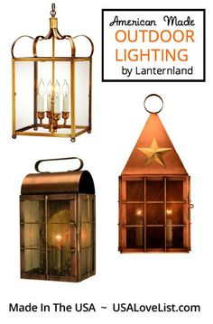 Classically styled outdoor lighting handcrafted in the USA by Lanternland. Lighting fixtures that add character to your home's exterior lighting design. Which one would you choose? Special promotion 9/4- 9/17/15.