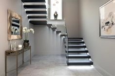 With modern lighting, a staircase design looks beautiful, contemporary, and safe