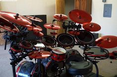 If you like the color red, this is the #drumkit #drumset for you!