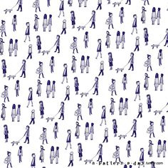 illustration people pattern - www.a-pattern-a-day.tumblr.com