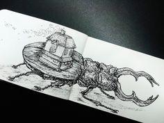 #sketch #sketchbook #illustration #draw #bug