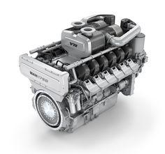 MAN Motor 175D, Produktvisualisierung für MAN, 3D Visualisierung