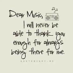 Thank you music for expressing myself when I can't find the words to do so. Music Is My Escape, I Love Music, Music Is Life, Motivacional Quotes, Lyric Quotes, True Quotes, Singing Quotes, Quotes On Music, Music Quote Tattoos