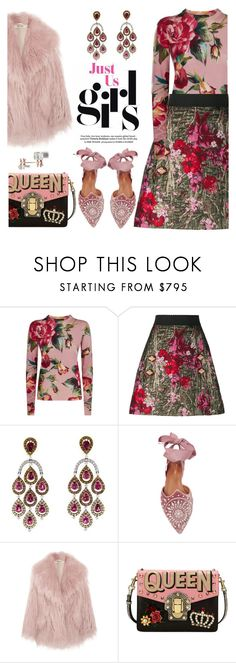 """Flower girls"" by pensivepeacock ❤ liked on Polyvore featuring Dolce&Gabbana, Aquazzura, Miu Miu and Repossi"