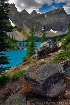 ~~Turquoise Rust ~ Moraine Lake, Banff National Park, Canada by David Pearce~~ Parc National De Banff, Banff National Park Canada, National Parks, Oh The Places You'll Go, Places To Travel, Beautiful World, Beautiful Places, Stunningly Beautiful, Moraine Lake