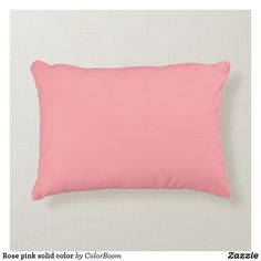 Rose pink solid color accent pillow Soft Pillows, Accent Pillows, Decor Pillows, Pink Cushions, Pillow Room, Pink Room, Pink Accents, Decorative Cushions, Accent Colors
