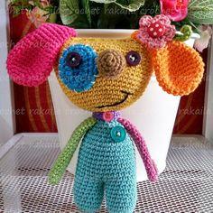 "10 To se mi líbí, 2 komentářů – rakaila (@rakailacrochet) na Instagramu: ""Belajar amigurumi ^_^  Pattern---> @vendulkamcrochet  #crochet #amigurumilover #amigurumi  #rajut…"""