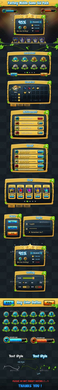 Fantasy Game Gui Pack v2 - User Interfaces Game Assets
