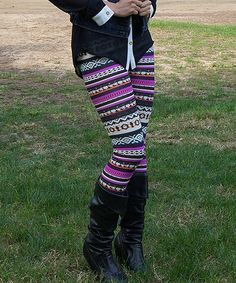 Pink & Black Tribal Leggings