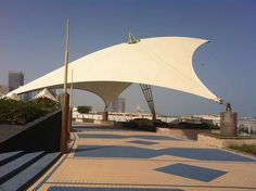 Tension roof structure