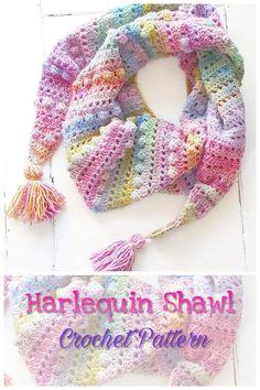 Crochet Shawl pattern Crochet Cape, Crochet Scarves, Crochet Motif, Crochet Cowls, Crochet Edgings, Shawl Patterns, Baby Knitting Patterns, Crochet Patterns, Crochet Ideas