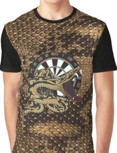 6822dff0a3d4eb Intimidarters Snakeskin Darts Shirt Graphic T-Shirt Dart Shirts