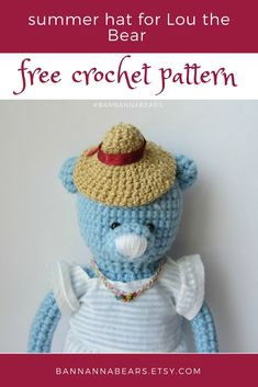 Easy crochet bear Amigurumi pattern How to crochet bear toy