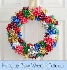DIY: Holiday Bow Wreath Tutorial #crafts #diy #christmas #holidays #wreath
