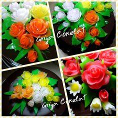 #edible #flowers #roses #pudding #agar-agar