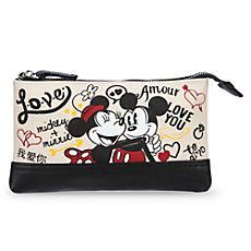 Mickey and Minnie Mouse Canvas Make-Up Bag - ''I Love Mickey'' Collection