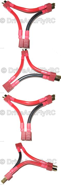 """Deans T Plug Male to XT30 Female Adapter 18# 2/"""" wire Turnigy Lipo NiMH battery"""