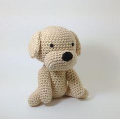 #animal #kids #toy #dog #pet #labrador #retriever #stuffed #plush #crochet #amigurumi