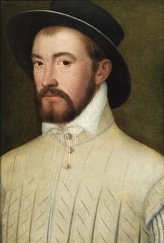 Nicolas Neufchatel  Portrait of Count George Albert of Erbach.In the late 1400s the necklines on men's doublets, slightly padded short overshirts, and women's gowns opened to reveal the shirts worn underneath. These shirts were often closed at the neck by means of a draw-string laced through the edge of the fabric.