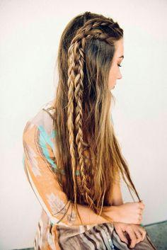 braided brunette beauty