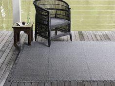 Market Fringe Woven Floormat in Shadow