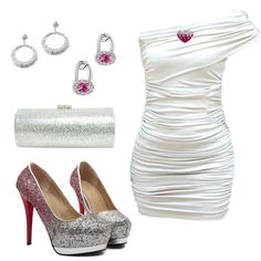 Shining evening dress, do you like this outfit?  Find More: http://www.imaddictedtoyou.com